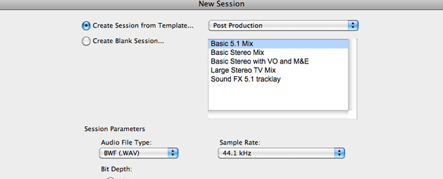 Session Templates: The Basics