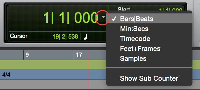 Pro Tools Set Bar|Beat