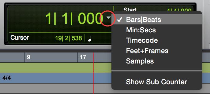 Pro Tools Set Bar|Beat