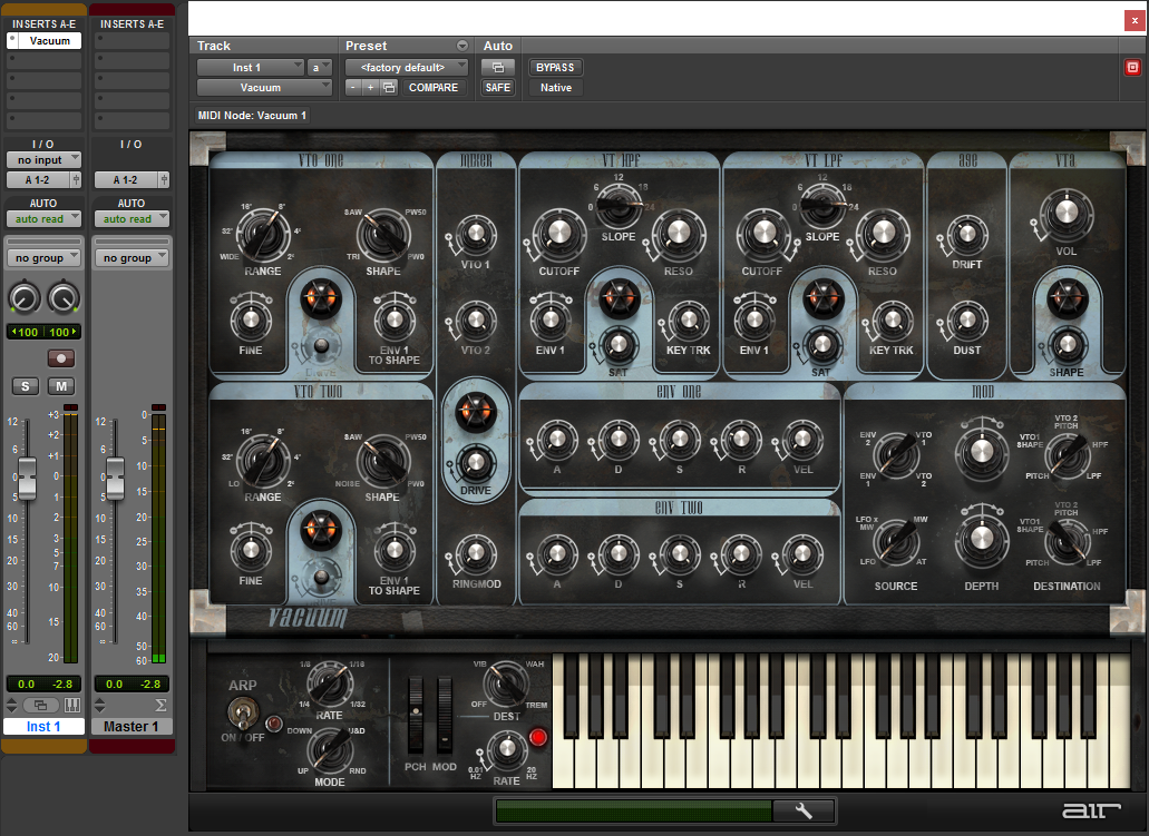 Configuring an Instrument Track.