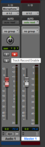 Record Arming A Track