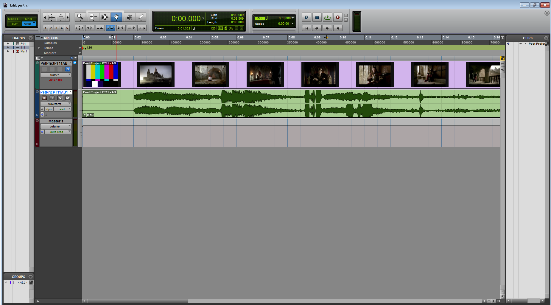 The Edit Window After Video Import